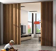 Puertas de madera plegables