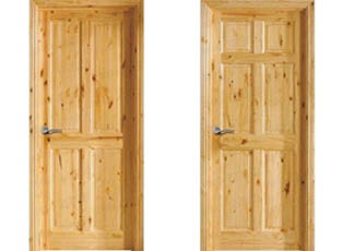 Modelos de puertas rústicas Lambrina y Gamón