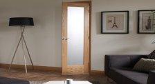 Puertas de interior Modernas con vidriera