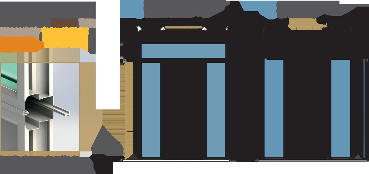 Formas y configuraciones para laretrales de puertas acorazadas y galvanizadas