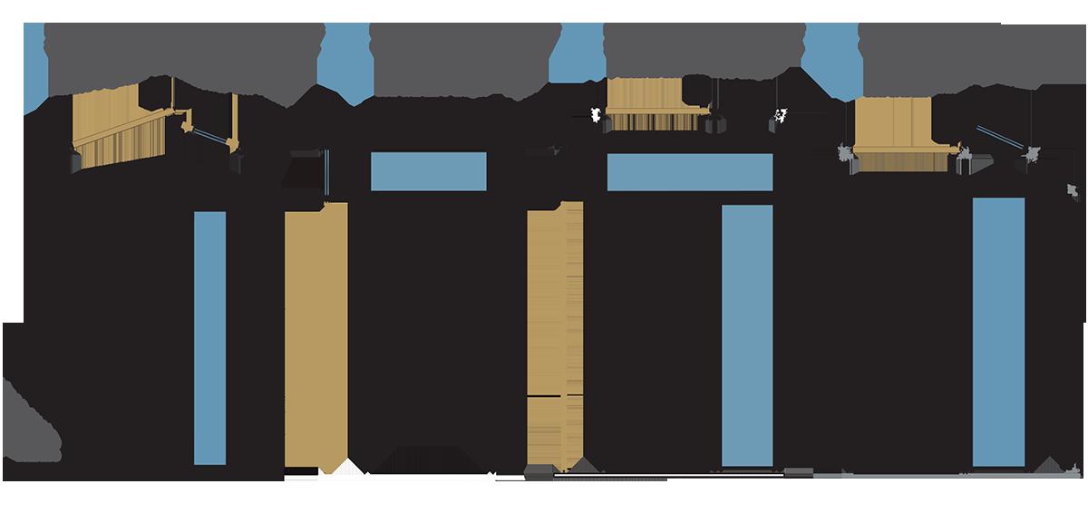 Formas y configuraciones para dinteles y laterales de puertas acorazadas y galvanizadas